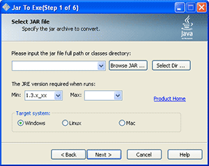 Click to view Jar2Exe screenshots